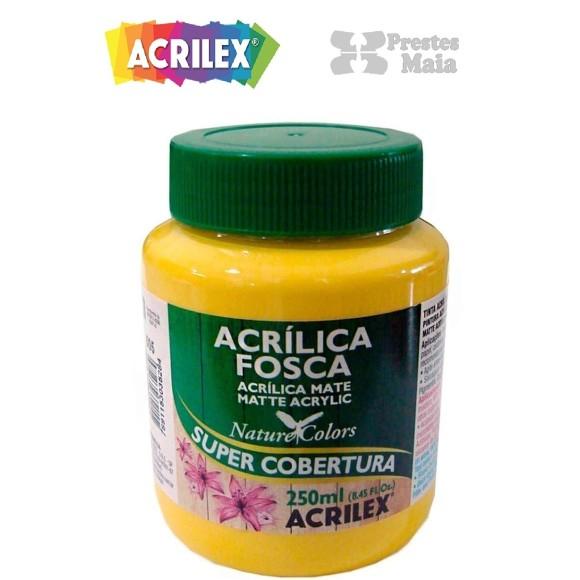 TINTA ACRILICA FOSCA 250ML AMARELO OURO ACRILEX