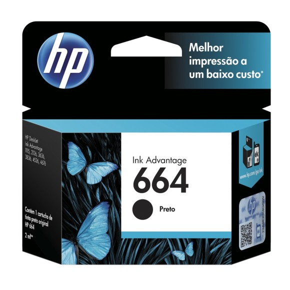 CARTUCHO HP 664 PRETO ORIGINAL