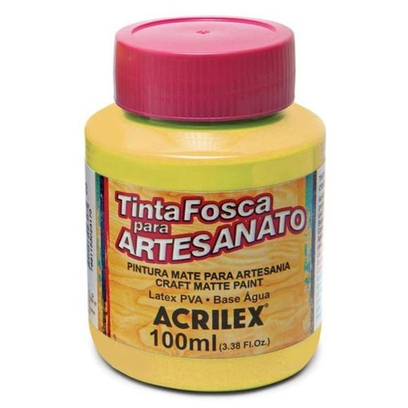 TINTA PLASTICA PVA FOSCA 100ML AMARELO OURO ACRILEX