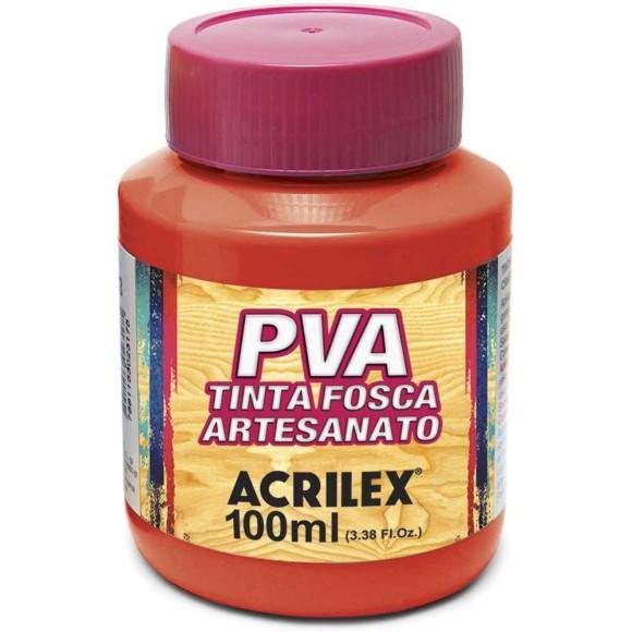 TINTA PLASTICA PVA FOSCA 100ML VERMELHO FOGO ACRILEX