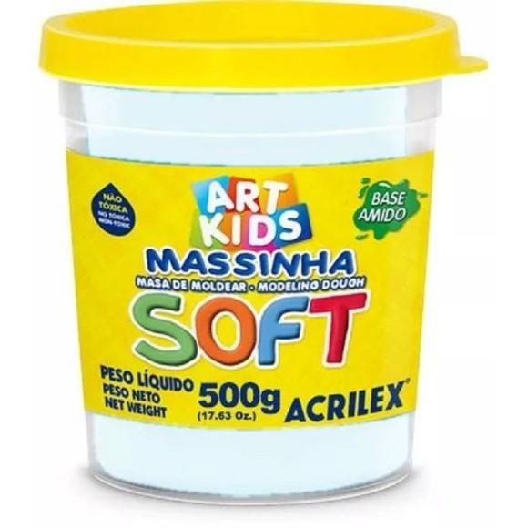 MASSINHA BASE AMIDO SOFT 500GR BRANCO NEVE ACRILEX