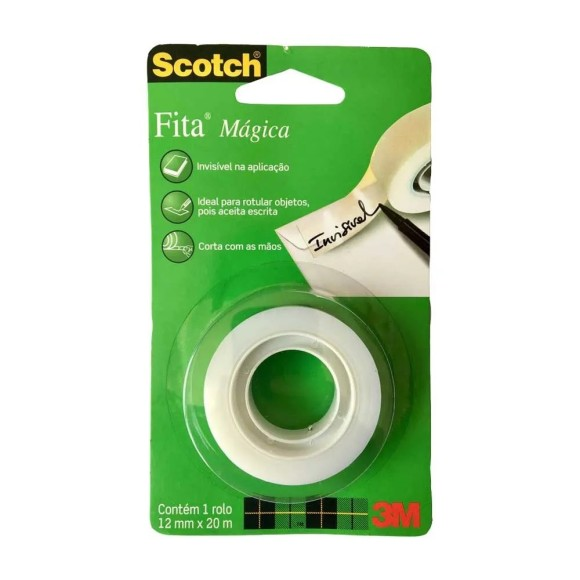 FITA MAGICA 12MM X 20M INVISIVEL SCOTCH 3M