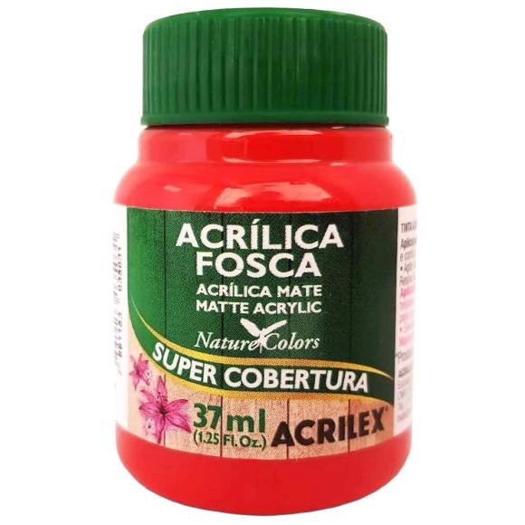 TINTA ACRILICA FOSCA 37ML VERMELHO FOGO ACRILEX