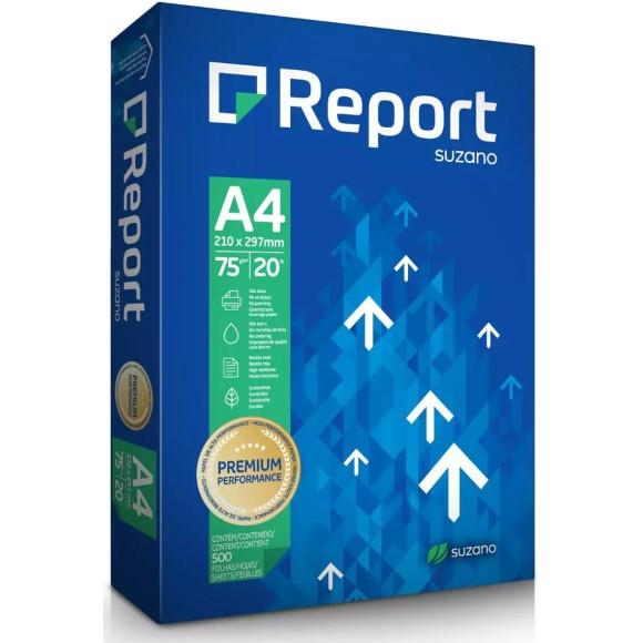 PAPEL SULFITE A4 75GR C/500 FOLHAS BRANCO REPORT