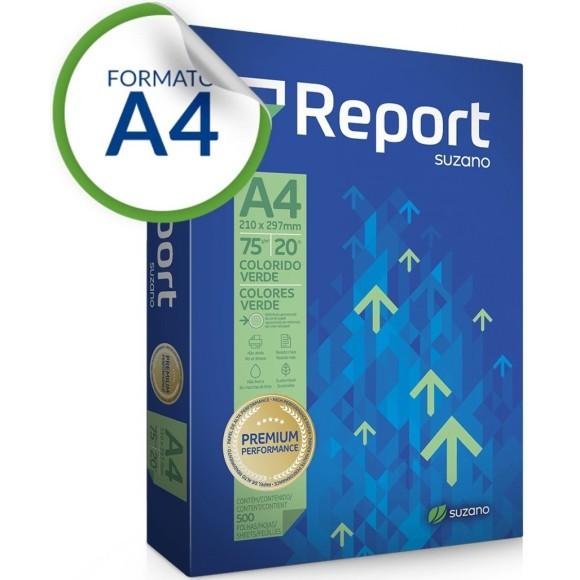 PAPEL SULFITE A4 75GR C/500 FOLHAS VERDE REPORT