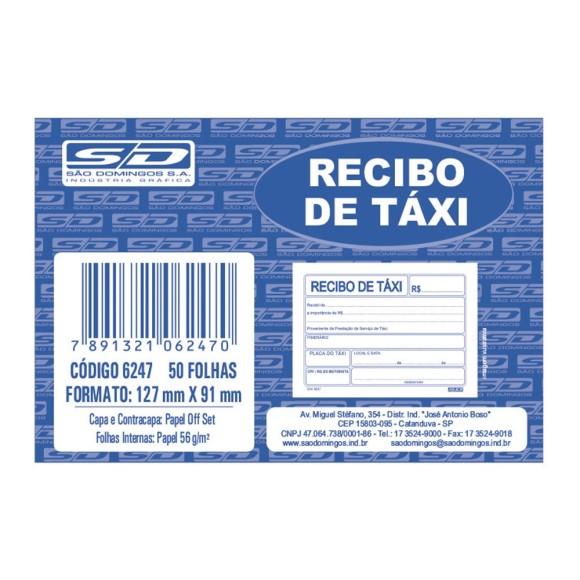 BL. RECIBO DE TAXI C/50 FLS SAO DOMINGOS
