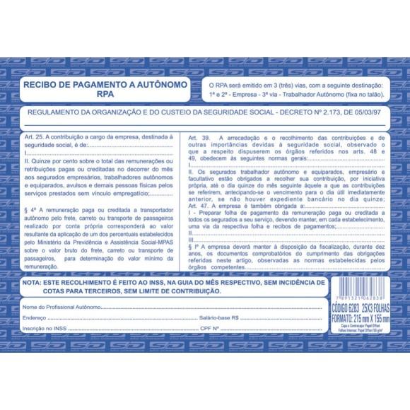 RPA RECIBO PAG.AUTONOMO INSCRITO 25X3 FLS SAO DOMINGOS