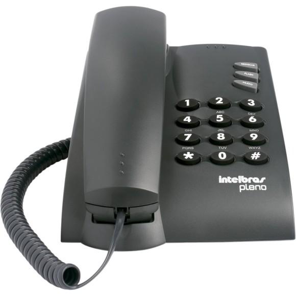 TELEFONE C/FIO PLENO PRETO C/CHAVE DE BLOQUEIO INTELBRAS