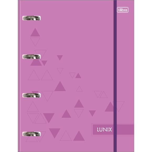 FICHARIO UNIV.CARTONADO C/ELASTICO 80FLS LUNIX ROXO TILIBRA