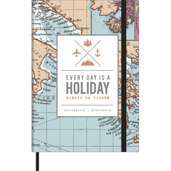 CADERNO DIARIO DE VIAGEM 80FLS EVERY DAY IS A HOLIDAY TILIBRA