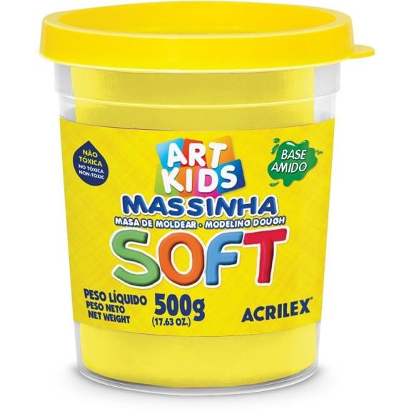 MASSINHA BASE AMIDO SOFT 500GR AMARELO LIMAO ACRILEX