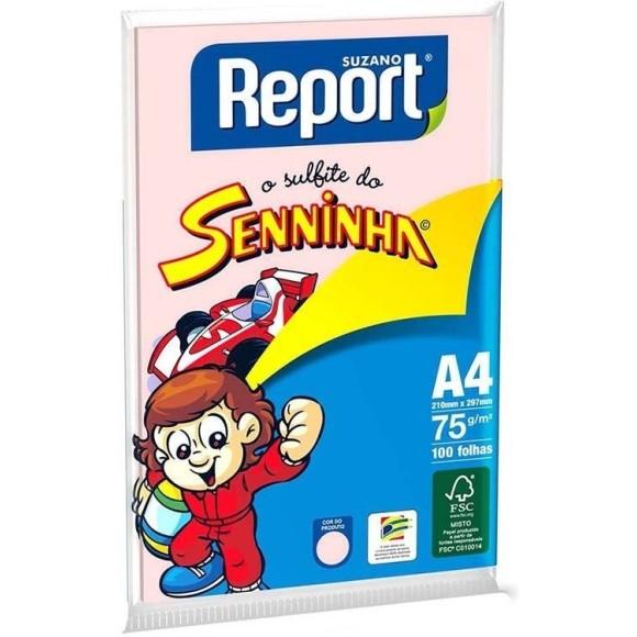 PAPEL SULFITE A4 75GR C/100 FOLHAS ROSA SENINHA REPORT