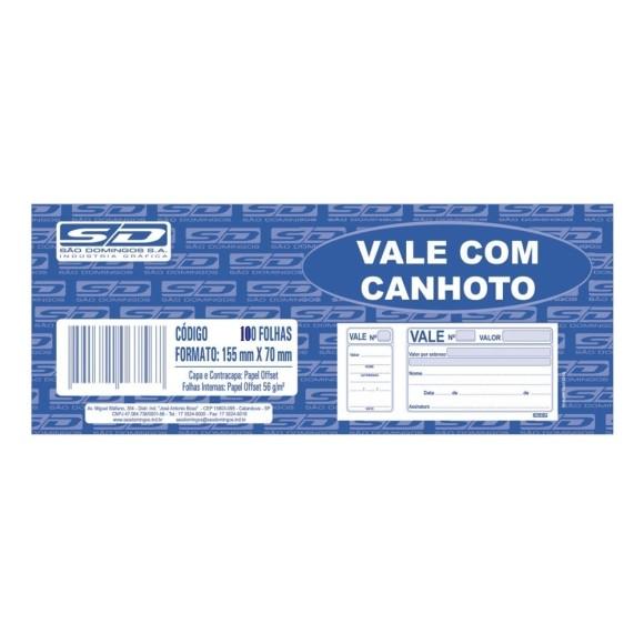 BL. VALE SIMPLES C/CANHOTO C/100 FOLHAS SÃO DOMINGOS