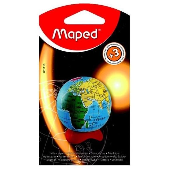 APONTADOR C/DEPOSITO GLOBO BLISTER MAPED