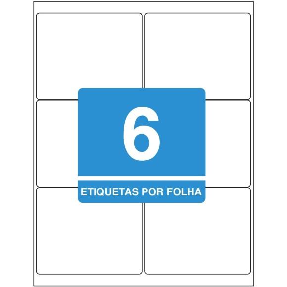 ETIQUETA 84,7 X 101,6 CT TB6184 C/100FLS 600 ETIQS. 6 P/FOLHA TILIBRA