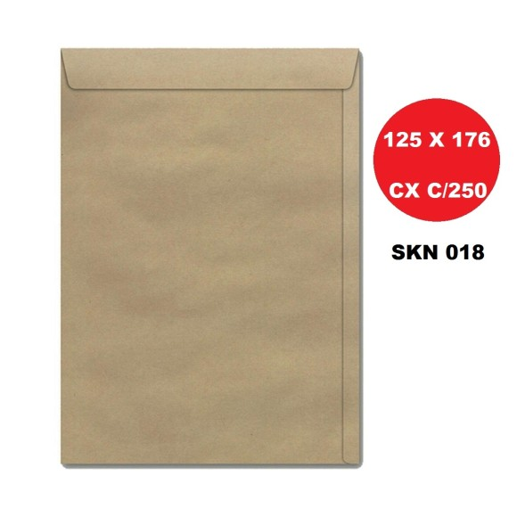 ENVELOPE SACO 125X176 KRAFT CAIXA C/250 SCRITY