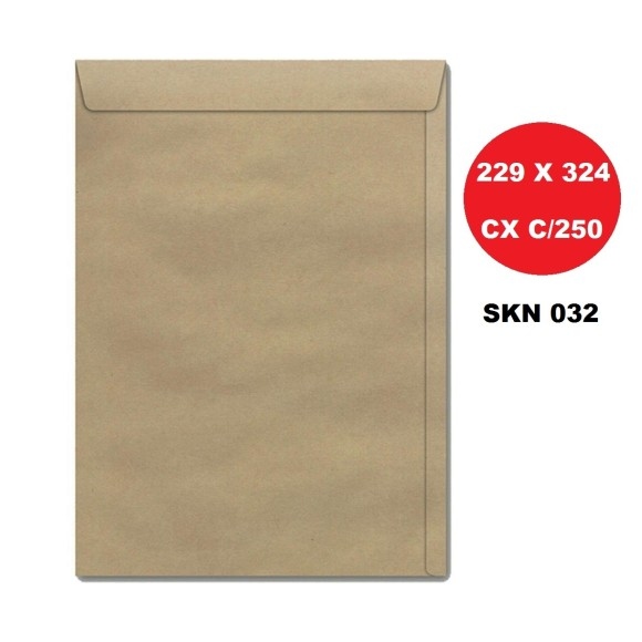 ENVELOPE SACO 229X324 KRAFT CAIXA C/250 SCRITY