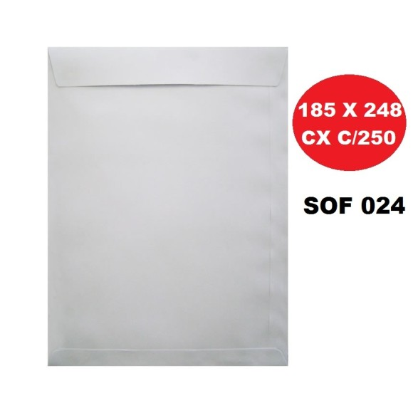 ENVELOPE SACO 185X248 BRANCO CAIXA C/250 SCRITY