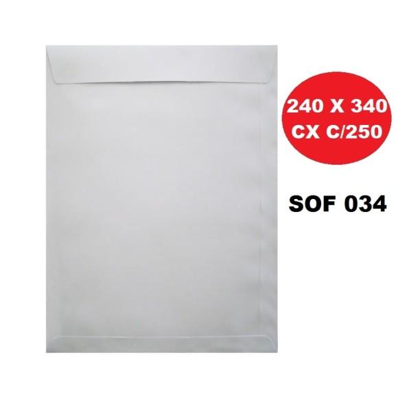 ENVELOPE SACO 240X340 BRANCO CAIXA C/250 SCRITY