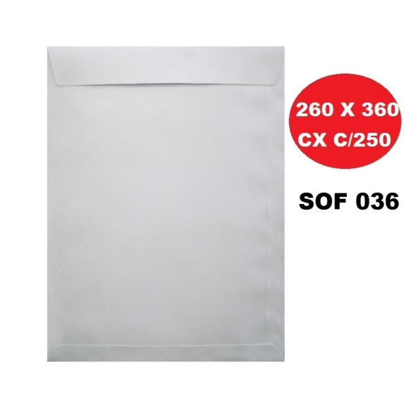 ENVELOPE SACO 260X360 BRANCO CAIXA C/250 SCRITY