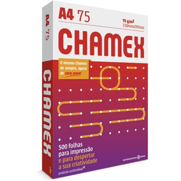 PAPEL SULFITE A4 75GR C/500 FOLHAS BRANCO CHAMEX
