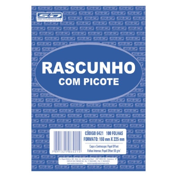 BL. RASCUNHO GRANDE BRANCO C/PICOTE SAO DOMINGOS