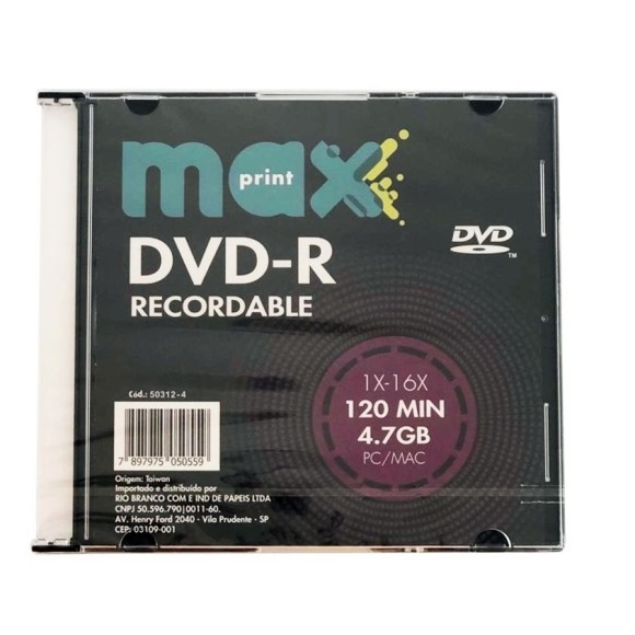 DVD-R 4.7GB SLIM MAXPRINT