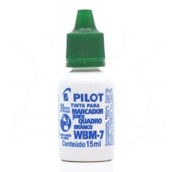 TINTA P/PINCEL QUADRO BRANCO WBM-7 15ML VERDE PILOT