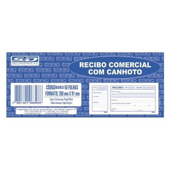 BL. RECIBO COMERCIAL C/CANHOTO SAO DOMINGOS