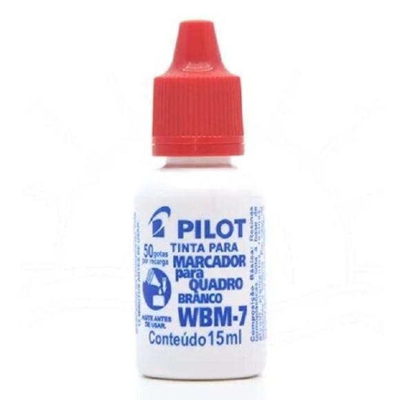 TINTA P/PINCEL QUADRO BRANCO WBM-7 15ML VERMELHO PILOT