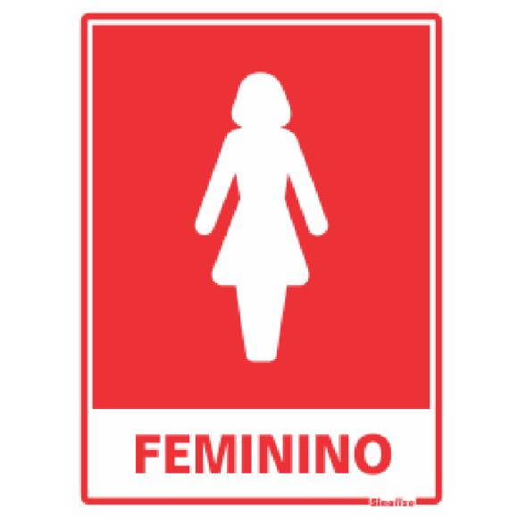 PLACA SINALIZAÇÃO SANITARIO FEMININO 15X20 POLIESTIRENO SINALIZE