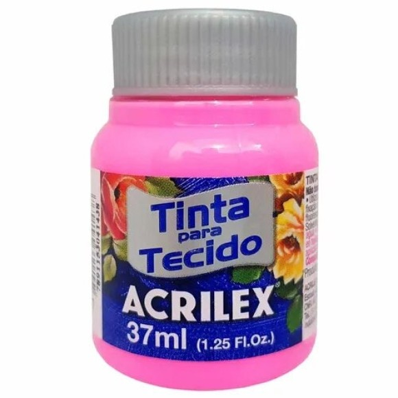 TINTA TECIDO 37ML ROSA ACRILEX