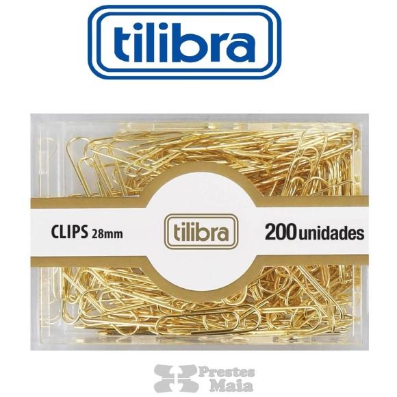 CLIPS N°2/0 C/200 UNIDADES DOURADO TILIBRA