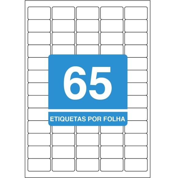 ETIQUETA 38,1X21,2 A4 TBA4351 100FLS 6500 ETIQS. 65 P/FOLHA TILIBRA