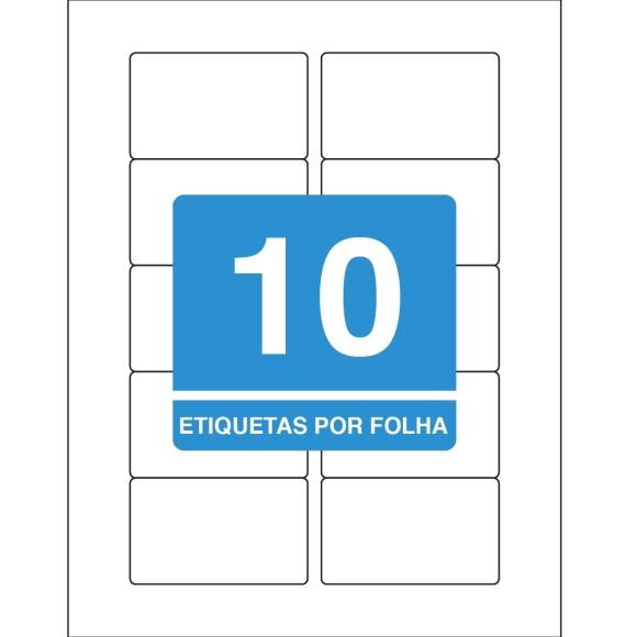 ETIQUETA 46,5X77,7 CARTA TB8099F C/10FLS 100 ETIQS. 10 P/FOLHA TILIBRA