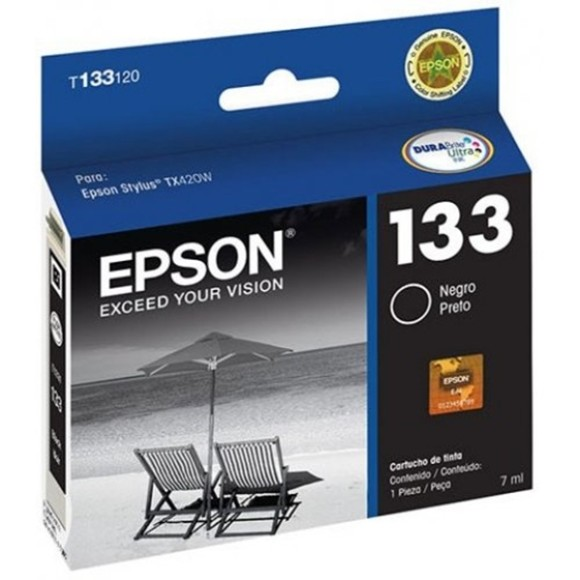 CARTUCHO EPSON T133120BR PRETO ORIGINAL
