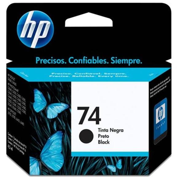 CARTUCHO HP 74 PRETO ORIGINAL