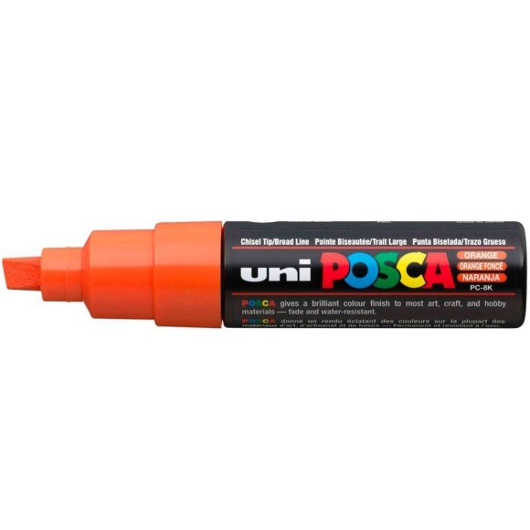 CANETA POSCA PC-8K LARANJA 8.0MM UNI-BALL