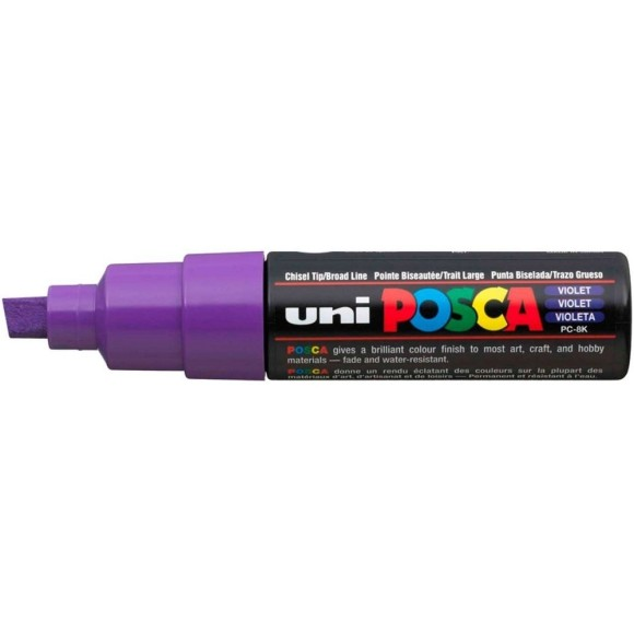 CANETA POSCA PC-8K VIOLETA 8.0MM UNI-BALL