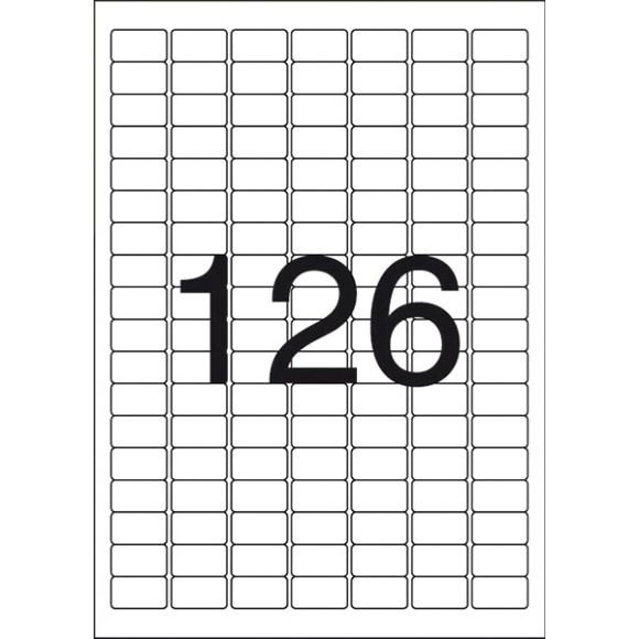 ETIQUETA 26,0 x 15,0 A4349 100FLS 12600 ETIQS. 126 P/FOLHA MAXPRINT