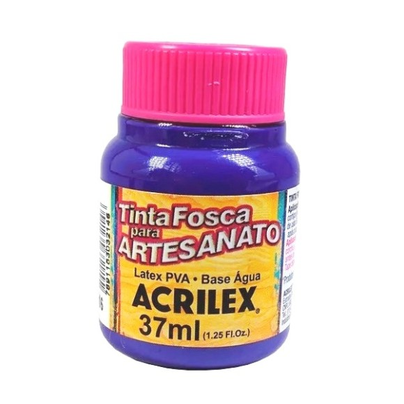 TINTA PLASTICA PVA FOSCA 37ML VIOLETA ACRILEX