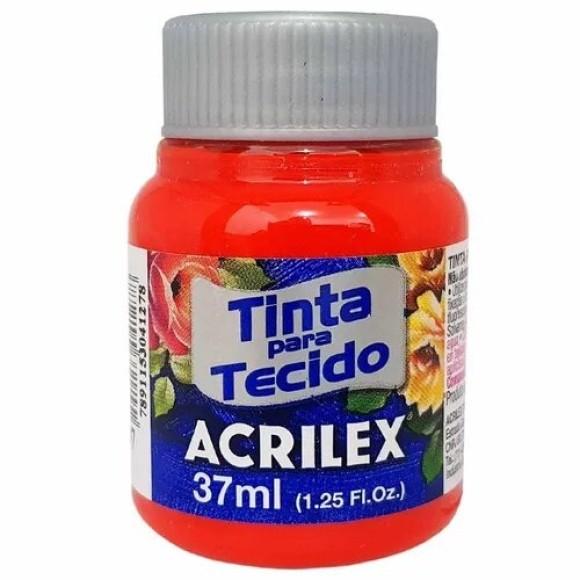 TINTA TECIDO 37ML VERMELHO FOGO ACRILEX