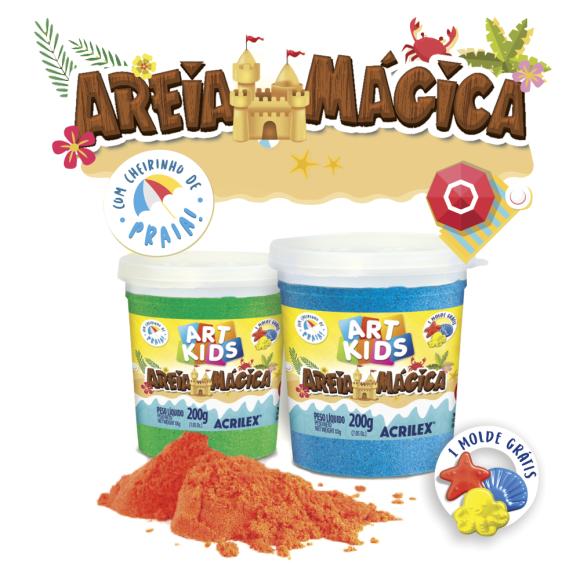 AREIA MÁGICA 200GR CORES SORTIDAS ACRILEX