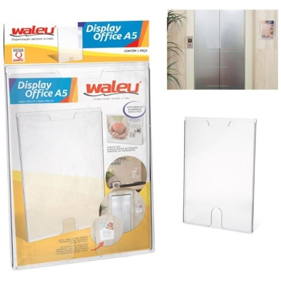 QUADRO MULTIUSO A5 CRISTAL DISPLAY OFFICE WALEU