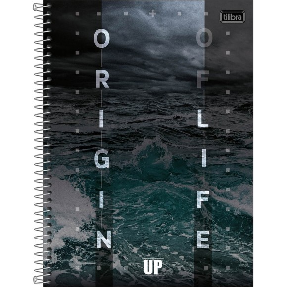 CADERNO CAPA DURA UNIV. 10X1 160FLS UP ORIGIN OF LIFE TILIBRA