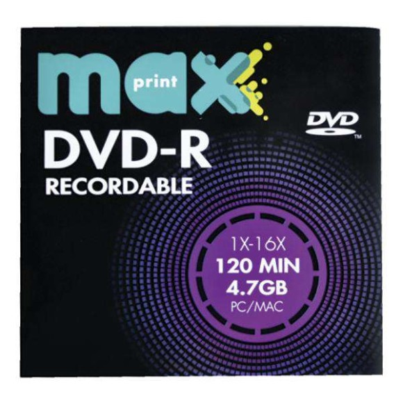 DVD-R 4.7GB ENVELOPE MAXPRINT