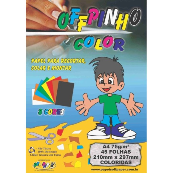 BLOCO CRIATIVO COLOR SET A4 75GR 8 CORES C/45FLS 210X297 OFF PAPER