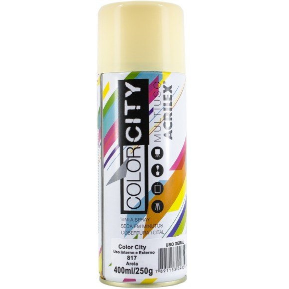 TINTA SPRAY MULTIUSO 400ML AREIA COLOR CITY ACRILEX
