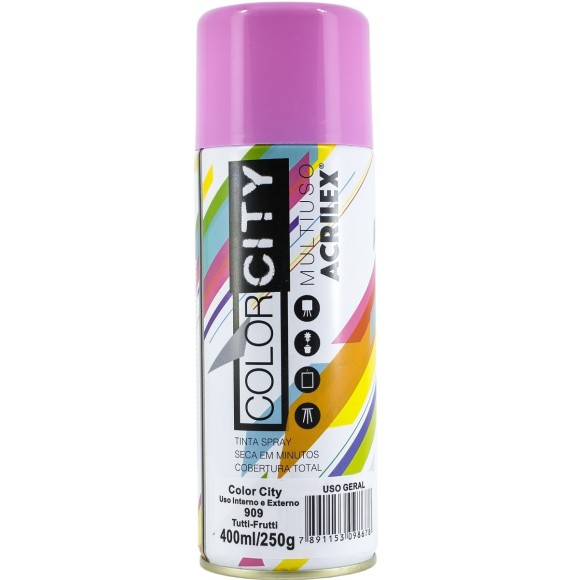 TINTA SPRAY MULTIUSO 400ML TUTTI-FRUTTI COLOR CITY ACRILEX
