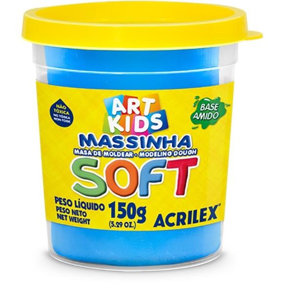 MASSINHA BASE AMIDO SOFT 150GR AZUL ACRILEX